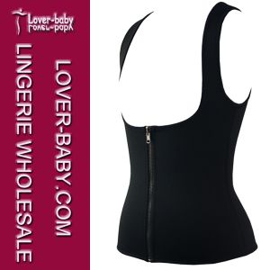 Women Sport Vest Training Shirt Gym Tops (L42659-3) pictures & photos