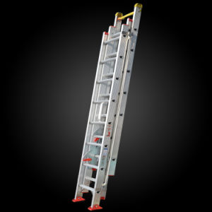 Multi-Purpose 3 Section Extension Aluminum Step Ladder pictures & photos