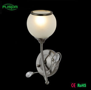 Factory Price Iron Glass White Wall Lamp/Light (6276/2WA) pictures & photos