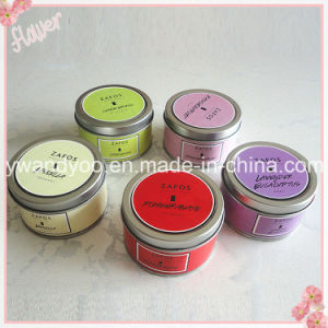 Handmade Scented Tin Travel Fragrance Candle with Matched Lid