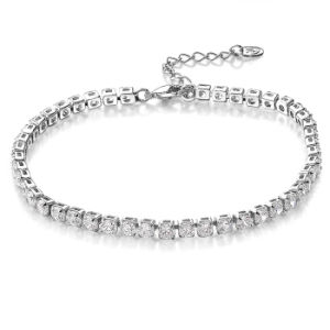 Women Accessories Plated White Stone Tennis Bracelet Jewelry pictures & photos