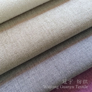 Decorative Linen Like Sofa Fabric Polyester with Backing pictures & photos