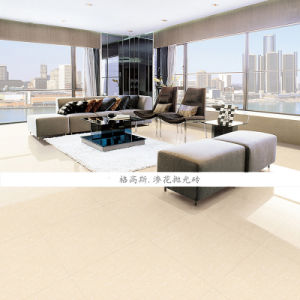 Building Material Vitrified Polished Porcelain Floor Tile Ivory White (600X600mm) pictures & photos