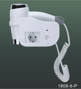 Wall Mounted Hotel Hair Dryer with European Socket 1808-6p