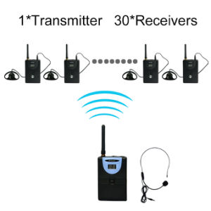 Professional Tp-Wireless Tour Guide System (1 transmitter and 30 receivers) pictures & photos