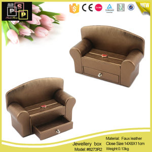 Cloth Sofa Fabric Sofa Jewelry Display Box (8273R1) pictures & photos