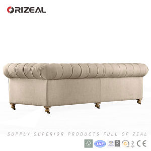Orizeal Antique French Rococo Chesterfield Fabric Sofa Furniture (OZ-FS-2026) pictures & photos