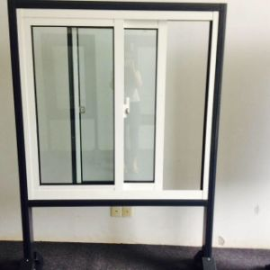 Powder Coated Crescent Lock Aluminum Sliding Window with Tempered Glass