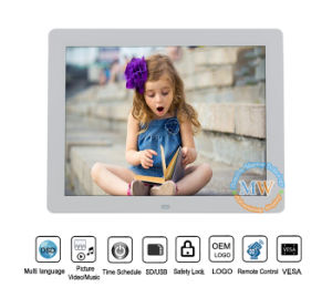 12 Inch HD Video Silm Digital Photo Frame with Ce/FCC/RoHS pictures & photos