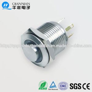 16mm 1no Resetable High Flat Ring Illuminated IP65 Ik08 Push Button Switch pictures & photos