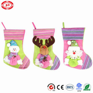 Pink Soft Felt Stocking with Ribbon Baby Gift pictures & photos