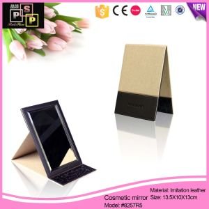 PU Mirror Foldable Mirror Beauty Mirror (8257) pictures & photos