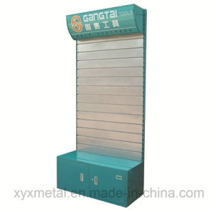 Customized Steel Slatwall Board Electrical Power Tooling Promotion Tools Exhibition Display Stand pictures & photos