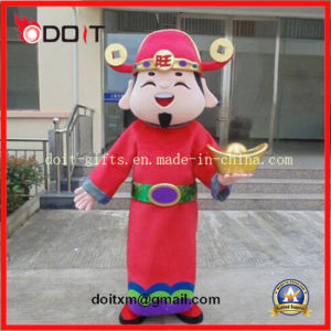 Customade Red Chinese Fortune God Adult Mascot Custome pictures & photos