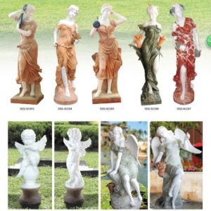 Customized Crafted White Marble Carving Sculpture pictures & photos