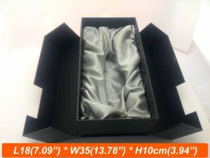 Double Door Open Grey Board Boxes with Silk Insert