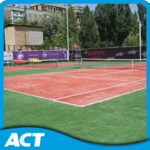 Quality Artificial Tennis Grass PE Fibrillated Training Football Court pictures & photos