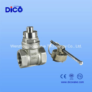 Locking Stainless Steel Gate Valve/CF8 Gate Valve with Lock pictures & photos