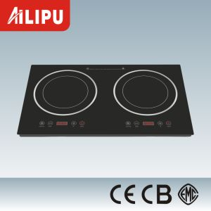 Metal Housing Two Plates in-Built Infrared Cooker/Ceramic Hob with Heater Heating Element pictures & photos