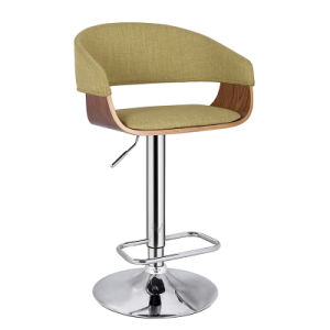 Professional Wooden and Fabric Furniture Adjustable Bar Chair (FS-WB1960-1) pictures & photos