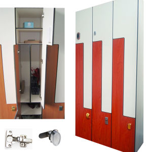Swimming Pool Changing Room Z Door HPL Locker pictures & photos