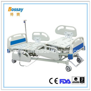 Timotion Motor Electrical Hospital Bed with Five Functions pictures & photos