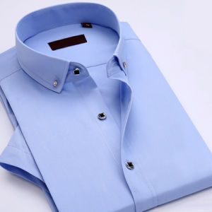Professional Non-Iron Wrinkle Cotton Business Dress Shirts for Men pictures & photos