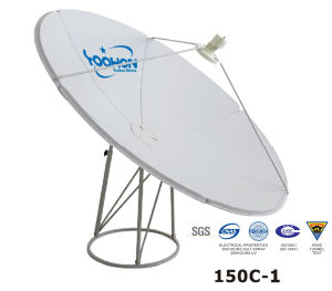 150cm Prime Focus Satellite Dish Antenna CE pictures & photos