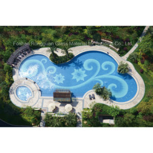 China glass mosaic diy design in art pattern for swimming for Pool design pattern