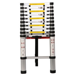 Aluminum 3.8m Telescopic Ladder Jk-1004A pictures & photos