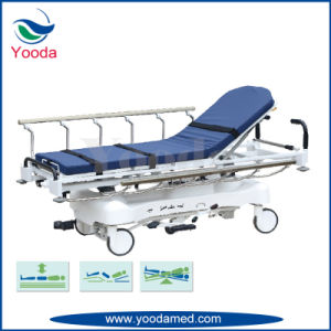 Height Adjustable PP Bed Base Medical Emergency Stretcher pictures & photos