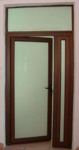 Cuatomized Brown Color Aluminum Casement Glass Door (ACD-019) pictures & photos
