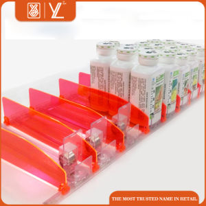 Transparent Plastic Tobacco Cigarette Display Shelf Pusher Divider