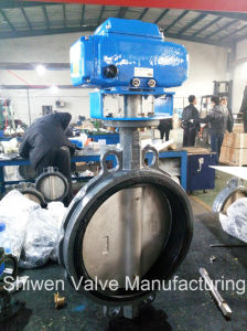 Electric Actuator Wafer Butterfly Valve with Stainless Steel Disc pictures & photos