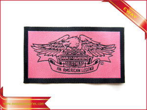 End Fold Woven Label Damask Suit Woven Label pictures & photos