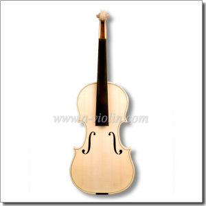Unvarnished Spruce Top Material White Violin (V30W) pictures & photos