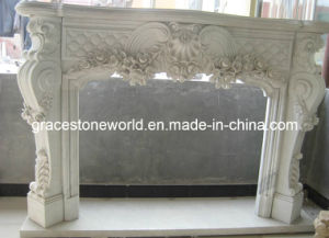 White Marble Carving Fireplace Mantel pictures & photos