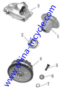 Spare Parts of Oil Pump Filter Cultch of Tricycle pictures & photos