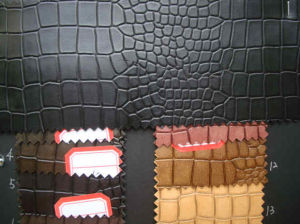 PU Crocodile Leather for Shoes/ Bags