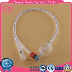 2-Way Foley Catheter 100% Silicone for Medical Use with Hard Valve pictures & photos