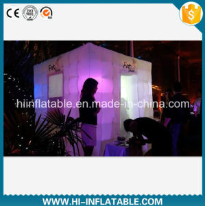 Custom Made Wedding, Event Usage Inflatable Photo Booth with LED Light for Sale