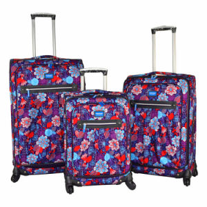 2017 Fashion Polyester Luggage Set with Printing Design pictures & photos