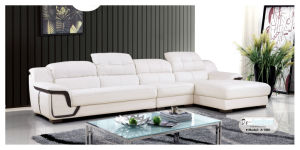 White Color Sofa, Leather Sofa, Modern Living Room Furniture (A-08) pictures & photos