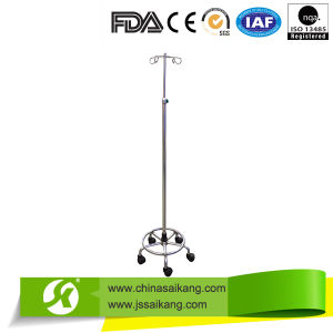 Double Hooks I. V. Stand Pole with Swiveling Castors (CE/FDA/ISO) pictures & photos