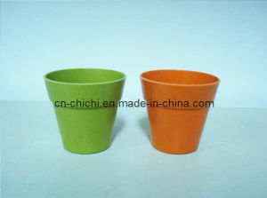 Flower/Plant Pot/Bamboo Fiber/Plant Fiber/Vase/Garden/Promotional Gifts/Home Decoration/Garden Decorations/Natural Bamboo Fiber Biodegradable Pots (ZC-F20002)