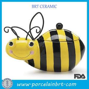 Wholesale Creative Honey Bumble Bee Ceramic Cookie Storage Jar pictures & photos