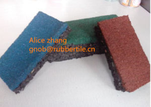 Colorful Rubber Paver Indoor Rubber Tile Playground Rubber Tiles Playground Rubber Flooring pictures & photos