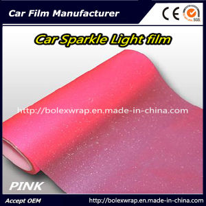 Pink Sparkle Shining Car Light Film/ Headligh Film/Tail Light Tint Tail Lamp Film 0.3*9m pictures & photos