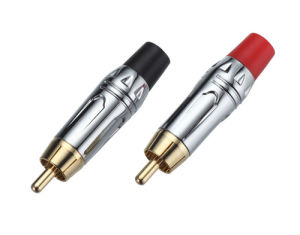 RCA Male Connector Audio Male Connector Gold (R-043) pictures & photos