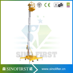 12m One Person Single Mast Aluminum Working Platform pictures & photos